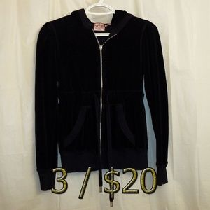 3/$20 Juicy Couture Velour Hoodie Jacket Small